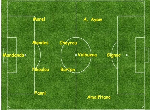 Sochaux v Marseille formation
